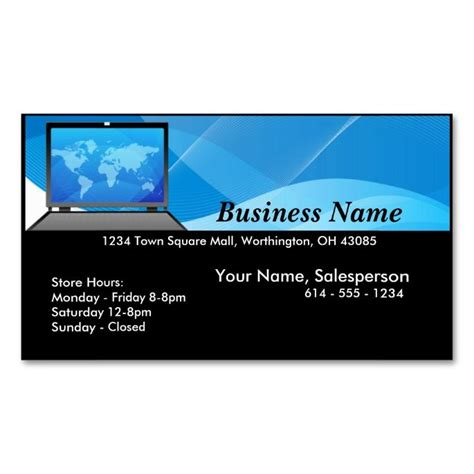 computer business cards templates free 425 best images about computer business card templates on
