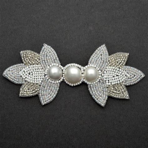 beaded applique pearl beaded applique bridal applique joyce trimming