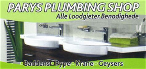 Local Plumbing Shop My Local Info Parys Plumbing Shop In Parys