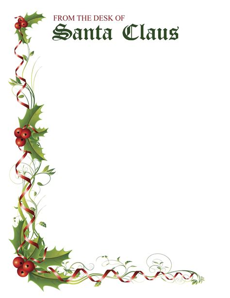 printable stationery letter to santa christmas letter stationery new calendar template site