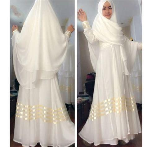 baju muslim sifon rizka a075 model gamis pesta