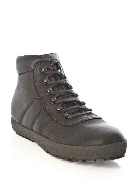 mens moncler boots moncler vaduz hiking boots in brown for lyst