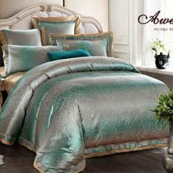 Bedding Sets King Luxury King Luxury Beige Silver Modern 6pcs Bedding Set