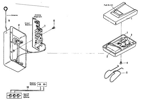 Craftsman Garage Door Opener Parts Diagram Radio Controls Diagram Parts List For Model 139663653 Craftsman Parts Garage Door Opener Parts