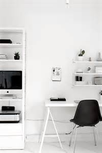 Home Office Ideas Minimal Black And White Room Via Image 2998770 By