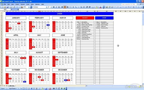 office vacation calendar excel calendar template 2016