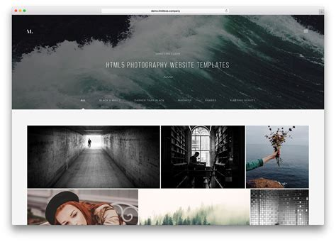 Html5 Photography Template top 20 html5 photography website templates 2017 colorlib