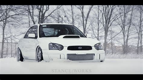 bagged subaru stance works and inside look at air lift company air