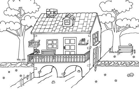 imagenes bonitas de paisajes para dibujar bonita casa dibujo para colorear e imprimir