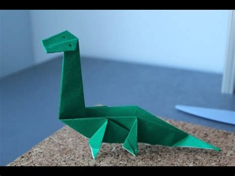 Origami Diplodocus - how to make a origami dinosaur the diplodocus