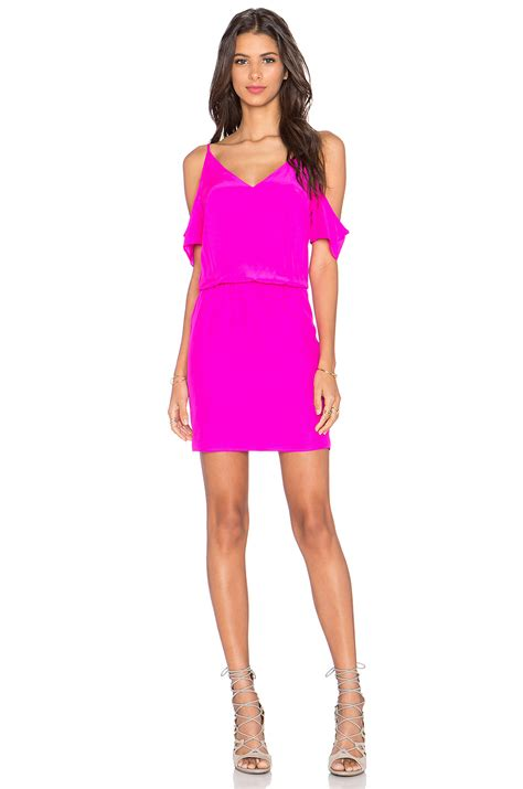 Mini Dress Amanda Denim lyst amanda uprichard mini dress in pink