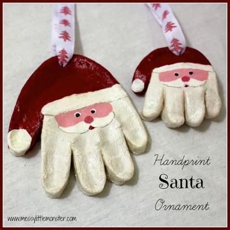 best 25 santa handprint ornament ideas on pinterest