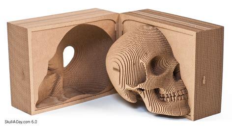 Skull A Day Category Cardboard Laser Cut Skull Template