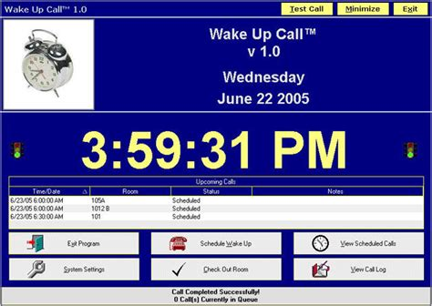 hotel wake up call template gallery templates design ideas