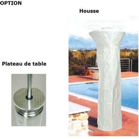 parasol chauffant electrique 2632 sovelor brasiliami parasol chauffant outillage fr