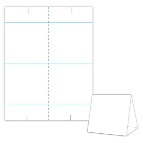 blanks usa templates table tent design template blank table tent white