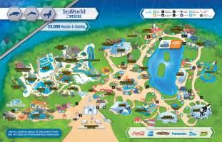 sea world florida map seaworld map my