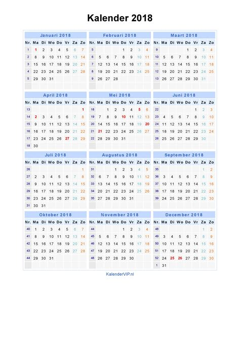Kalender 2018 Tuxx Kalender 2018 Jaarkalender En Maandkalender 2018 Met