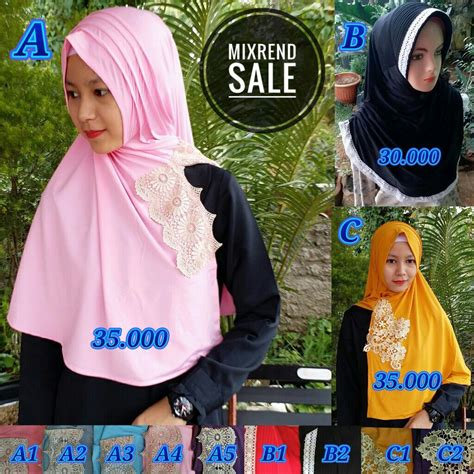 Diskon Kerudung Jilbab Khimar Hanan Sale kerudung mixrend sale sentral grosir jilbab kerudung i supplier jilbab i retail grosir