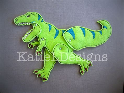 jointed doll design ith jointed trex doll machine embroidery design pattern
