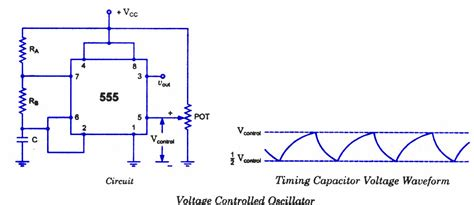 voltage controlled oscillator resistors circuits diagram 555 timer oscillator