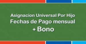 fecha de cobro del bono navideo2016 cooperativa argentina trabaja asignacion universal por hijo fechas de pago mensual