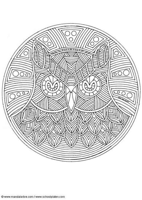 educational coloring books for adults coloring page owl mandala coloring picture owl mandala