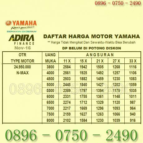 terjual tabel harga kredit motor yamaha nmax kaskus