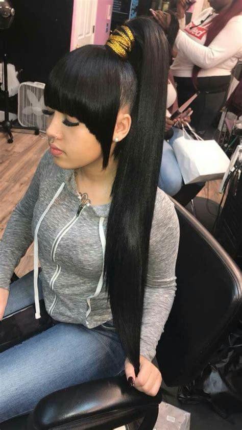 achieve perfect straight sleek high ponytails