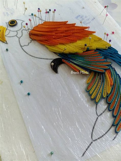 paper quilling tutorial pinterest procedure quilling parrot branka miletić quilling