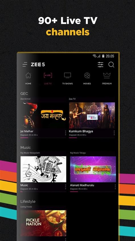 Play Store Zee5 Zee5 Tv Shows Live Tv Originals Android