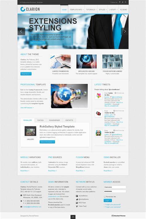 Clarion Premium Joomla 2 5 Business Template Joomla Template Developer
