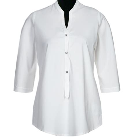 White Blouse white blouse with button tabs custom fit handmade