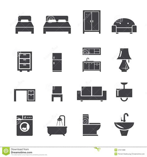 design icons furniture furniture icon stock vector image of lighting flush