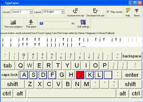 typing tutorial regular keyboard lessons typefaster a downloadable typing tutor for windows with