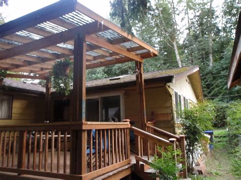 Adding Roof On Deck - how to build a diy decking cover permaculture magazine
