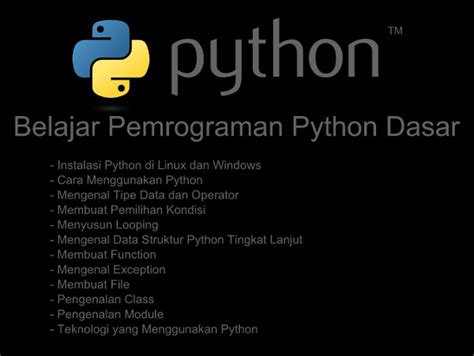 Dasar Pemrograman Phyton ebook belajar pemrograman python dasar