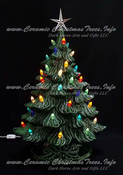 vintage style ceramic christmas tree with music by