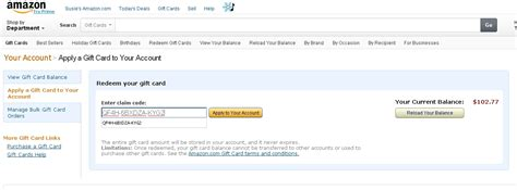 Amazon Apply Gift Card Balance To Order - a thing or two