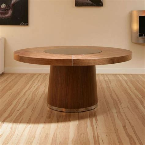 black stained walnut wood pedestal for round glass top 1000 images about unique dining tables on pinterest