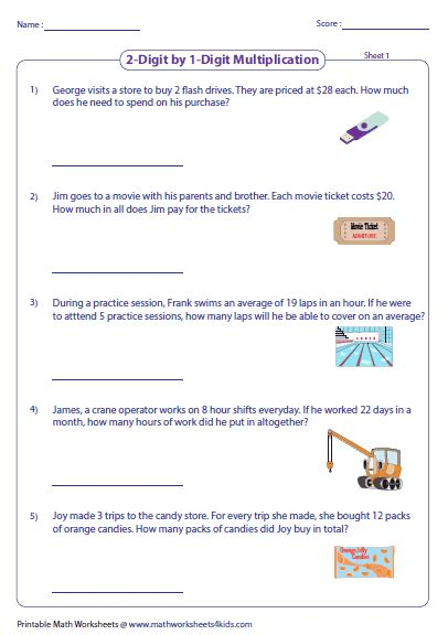 Multiplication Word Problems Worksheet by Three Digit Word Problems Popflyboys