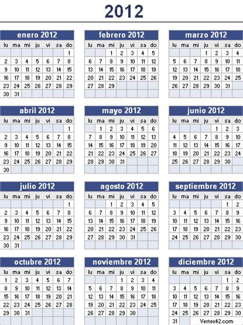 El Calendario 2012 Calendario Laboral Para El A 241 O 2012 Ayuntamientos De