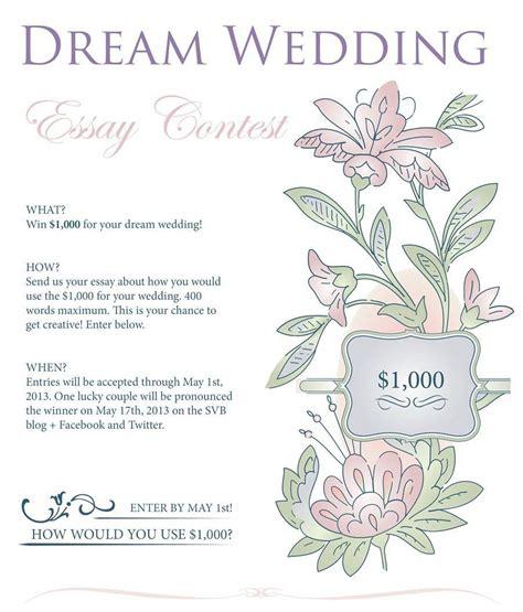 Win Wedding Money - dream wedding essay contest