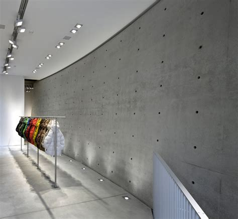 ando concrete wall tadao ando defines duvetica showroom in milan with