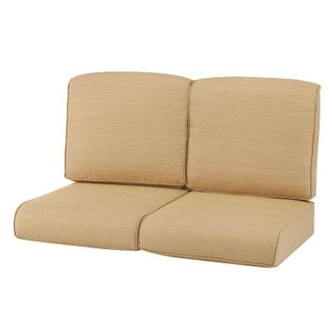 outdoor loveseat cushion replacement martha stewart living cedar island beige replacement