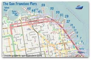 san francisco map pier 39 the san francisco piers by the numbers