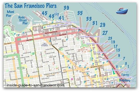 san francisco map embarcadero the san francisco piers by the numbers