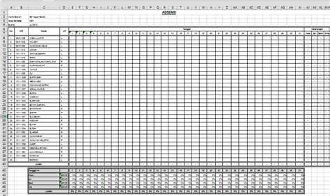 format rekap absensi siswa absen siswa dengan ms exel dengan grafik absen seberkas