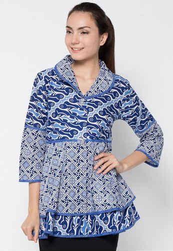 desain baju batik atas bawah 20 model baju batik atasan kerja wanita modern terbaru