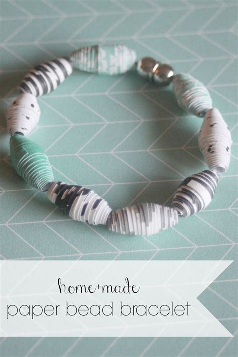 How To Make A Paper Bracelet - 25 best ideas about paper bead jewelry on